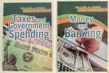 2 NEW BOOKS: Taxes and Government Spending AND Money and Banking DOLLARS & SENSE