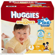 Huggies  LITTLE SNUGGLERS Plus Nappies SIZE 2 - 174