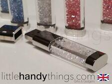Girls/Ladies Crystal 8GB USB Bling Flash Drive/Pen Memory Stick White