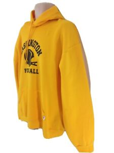 Russell Athletic Mens XL Yellow NFL Washington Football Pullover Pouch Hoodie