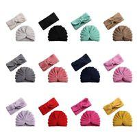 Baby Toddler Kids Unisex Knitted Turban Hat Hair Band Beanie Headwear Cap ZXCV