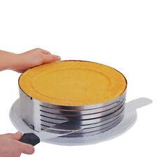 "9.6""-12"" Stainless Steel Layer Cake Slicer Kit Mousse Slicing Cake Setting Ring"