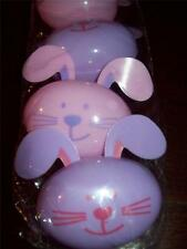 NEW FILLABLE plastic EASTER EGG BUNNY RABBIT PACK OF 6 CONTAINERS PINK LILAC