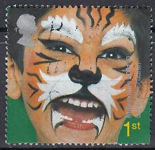 Großbritannien England gestempelt Karneval Maske Gesicht Schmicke Katze / 983