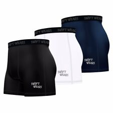 Swift Wears Mens Compression Boxer Shorts Sports Briefs Skin Tight Fit Gym Pants