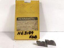 KENNAMETAL NG3189 New Carbide Inserts Grade K68 5pcs O