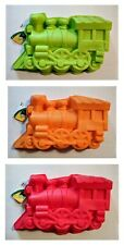Train - Silicone Cake Mold - Green, Orange or Red - New