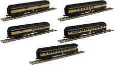 Atlas N Scale ACF Heavyweight 60' Passenger 5-Car Set Monon (Black/Gold)