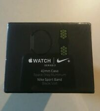 New Apple Watch Series 2 42mm Nike+ Aluminum Space Gray Black Sport Volt