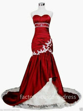 Sexy Taffeta Mermaid Lace Wedding Dress Bridal Gowns Bride Dress Custom Size