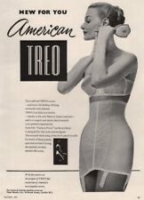 New for you - American Treo corset. Fashion advert. BRITISH VOGUE 1955 print