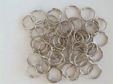Steel Split Key Rings Bulk 25mm Chrome - pack of 100 pcs
