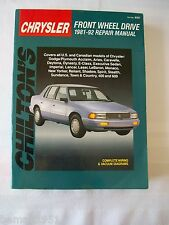Chilton's Chrysler Front Wheel Drive 1981-92 Repair Manual Used