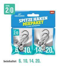 Lieblingsköder Spitze Haken 2/0 Mixpaket - 4 Jighaken, Jigköpfe, Bleiköpfe