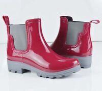 Women's Rubber Waterproof Short Elastic Rain Boots Garden Snow Ankle Boots NEW