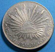 Mexico  Chihuahua 1887 Ca-MM 8 Reale Choice AU  KM# 377