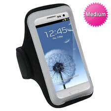 Black Sports Gym Walking Running Jogging Armband Case Phone Holder Strap