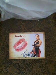 Rhea Ripley Signed Kiss Print Card WWE RAW Women's Champion #1