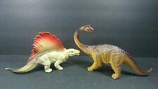"Plastic Dinosaurs 2000 Apatosaurus & Dimetrodon 9"""