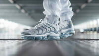 "Nike Air VaporMax PLUS Men's Shoes Trainers ""Metallic Silver"" UK 6 EUR 40 US 7"