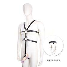 Men Sexy Leather Chest Full Body Harness Gay Interest Bodysuit Club Wear Costume