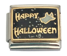 9mm Italian Charm Happy Halloween Ghost Glitter Stainless Steel Modular Link