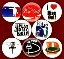Disc Golf 8 NEW 1 inch buttons pins badges frisbee frolf