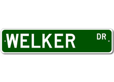 WELKER Street Sign - Personalized Last Name Sign