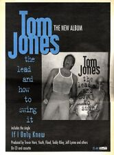 """ARTICLE - ADVERT 19/11/94PGN12 15X11"""" TOM JONES : THE LEAD AND HOW TO SWING IT A"""