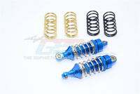 TRAXXAS Mini E-Revo-ALLOY FRONT/REAR ADJ. SHOCKS w/ SPRINGS - BLUE