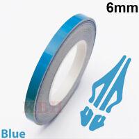 "6mm Self Adhesive Coachline Pin Stripe Vinyl Tape Craft Sticker 1/4"" SKY BLUE"