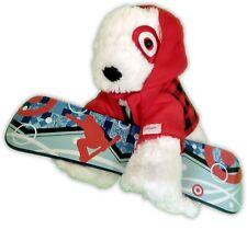 "14"" Target 2013 Red White Mac The Dog Bull Terrier Snowboard Plush 67-13"