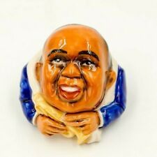 SATCHMO Ceramic Face Pot by Kevin Francis Louis Armstrong Trumpet Jazz music