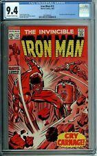 IRON MAN 13 CGC 9.4 CONTROLLER NICK FURY APP Marvel Silver Age 1969 NEW CGC CASE