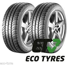 2X Tyres 225 55 R17C 109/107H 8PR Continental ContiVanContact 200 B A 72dB