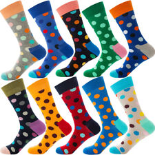 10 Pairs Lot Mens Cotton Socks Novelty Colourful Casual Fancy Funny Dress Socks