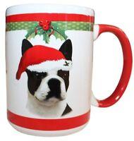Boston Terrier Christmas Coffee Mug 15 oz E&S Pets Dog Puppy Tea Cup Holiday