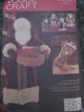 """VOGUE SEWING PATTERN 28"""" SANTA FATHER CHRISTMAS CARD HOLDER STOCKING TRANSFERS"""