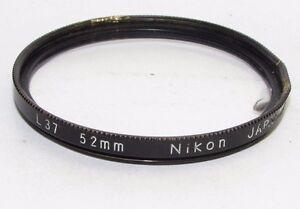 Nikon L37 UV 52mm Lens Filter with crack and filter rim damaged S940231