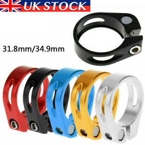 Bike Bicycle BMX MTB Quick Release Seat Post Anodised Alloy Clamp 31.8/34.9MM UK
