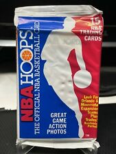 1989-90 NBA Hoops Sealed Pack with Michael Jordan Card on Front/Top