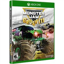 MONSTER JAM CRUSH IT XBOX ONE NEW! GRAVE DIGGER, TRUCK RACE, CRASH MODE!