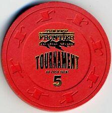 New listing The New Frontier Casino $5 No Cash Value Tournament Chip, Las Vegas, Nv F514