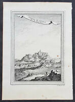 1755 Prevost & Schley Antique Print View of Potala Palace in Lhasa, Tibet