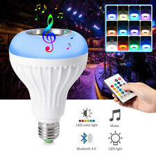E27LED Wireless Bluetooth Light Bulb Speaker RGB Color12W Music Lamp with Remote