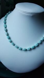 Natural Amazonite and Lapis Lazuli Silver Plated  necklace