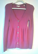 VINCE TUNIC LONG SLEEVES WITH BUTTONS DARK PLUM CASHMERE SIZE XS