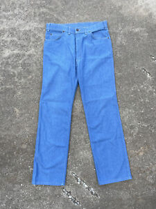 Vintage 70s Levis With A Skosh Mens 34 x 31 Orange Tab Jeans Made In USA