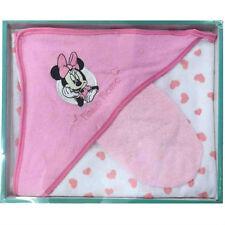 DISNEY coffret cadeau cape de bain + gant MINNIE rose blanc neuf