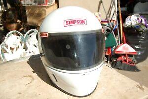 Vintage Simpson SA95 Racing Helmet Full Face Snell Size 7 3/8 Vintage 1999